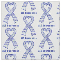 ALS Heart Ribbon of Hope Fabric