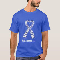 ALS Heart Ribbon of Hope T-Shirt