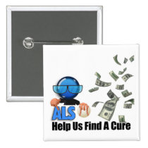 help, als, awareness, hope, love, education, funds, men, women, Button with custom graphic design
