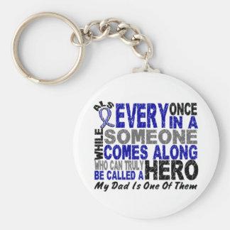 ALS Hero Comes Along 1 Dad Basic Round Button Keychain