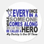 ALS Hero Comes Along 1 Daddy Round Sticker
