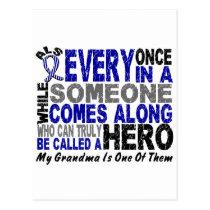 ALS Hero Comes Along 1 Grandma Postcard