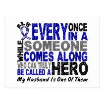 ALS Hero Comes Along 1 Husband Postcard