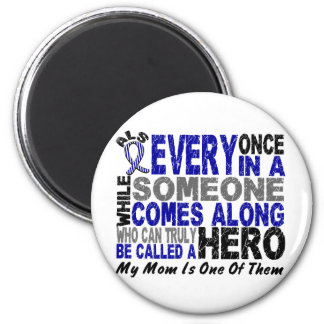ALS Hero Comes Along 1 Mom 2 Inch Round Magnet