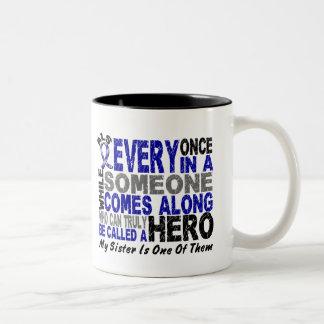 ALS Hero Comes Along 1 Sister Two-Tone Coffee Mug