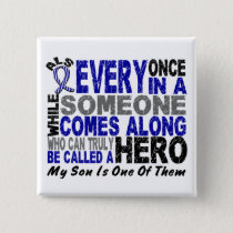 ALS Hero Comes Along 1 Son Pinback Button