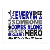ALS Hero Comes Along 1 Wife Postcard