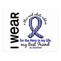 ALS Hero In My Life Best Friend 4 Postcard