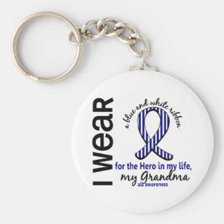 ALS Hero In My Life Grandma 4 Basic Round Button Keychain