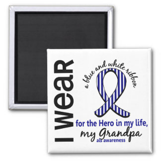 ALS Hero In My Life Grandpa 4 2 Inch Square Magnet