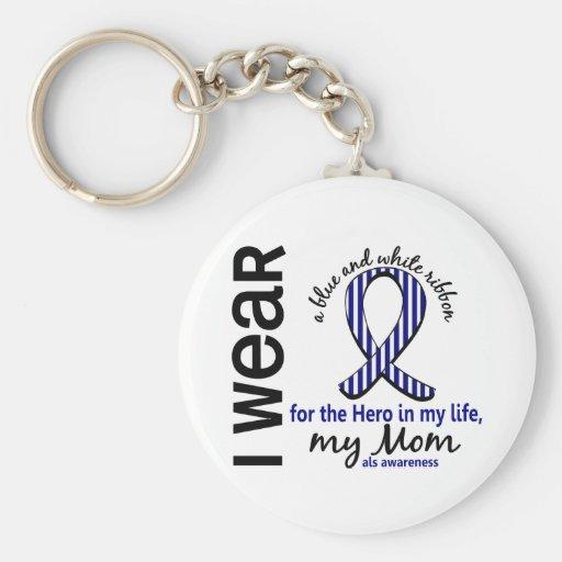 ALS Hero In My Life Mom 4 Key Chain