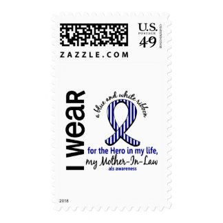 ALS Hero In My Life Mother-In-Law 4 Postage Stamps