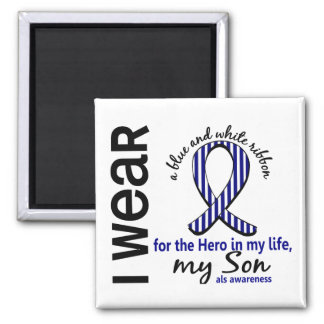 ALS Hero In My Life Son 4 2 Inch Square Magnet