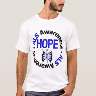 ALS HOPE Grunge Butterfly T-Shirt