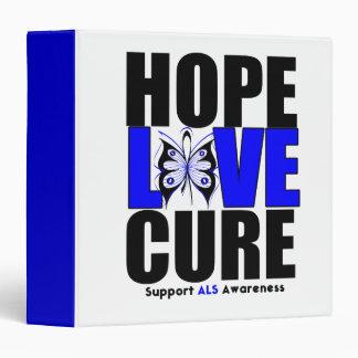 ALS Hope Love Cure Binder