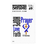 ALS Hope Love Faith Prayer Cross Stamps
