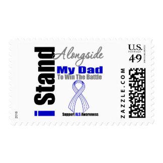 ALS I Stand Alongside My Dad Postage Stamps