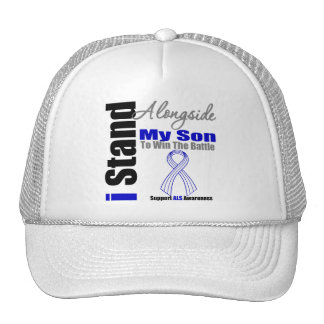ALS I Stand Alongside My Son Trucker Hat