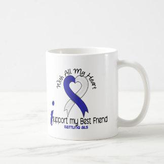 ALS I Support My Best Friend Classic White Coffee Mug