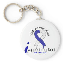 ALS I Support My Dad Keychain