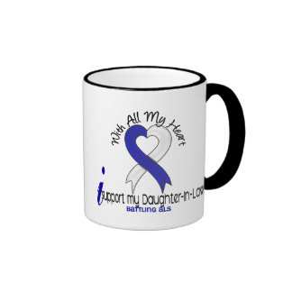 ALS I Support My Daughter-In-Law Ringer Coffee Mug