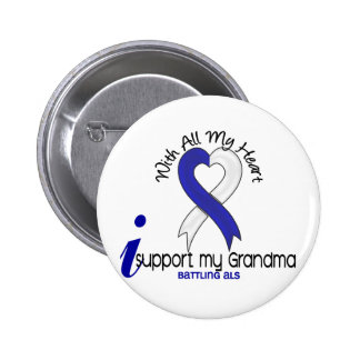 ALS I Support My Grandma Button