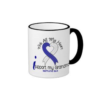 ALS I Support My Grandma Ringer Coffee Mug