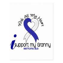ALS I Support My Granny Postcard