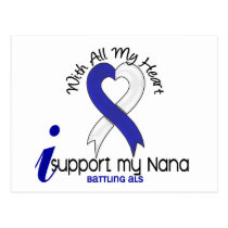ALS I Support My Nana Postcard