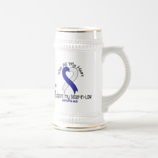ALS I Support My Sister-In-Law 18 Oz Beer Stein