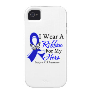ALS I Wear a Ribbon For My Hero Case-Mate iPhone 4 Cases