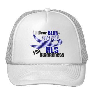 ALS I Wear Blue And White For ALS Awareness 33 Trucker Hat