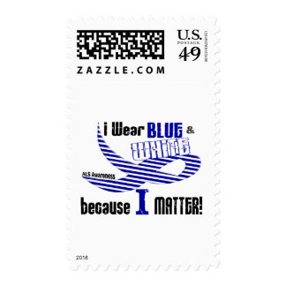 ALS I Wear Blue And White For ME 33 Postage Stamps