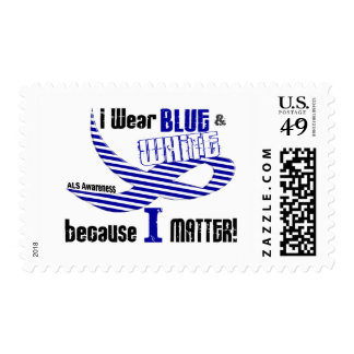 ALS I Wear Blue And White For ME 33 Stamp