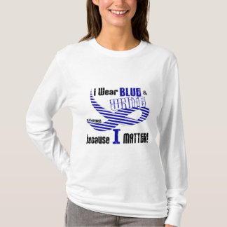 ALS I Wear Blue And White For ME 33 T-Shirt