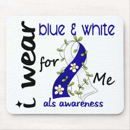 ALS I Wear Blue and White For Me 43 Mouse Mats