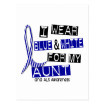 ALS I Wear Blue And White For My Aunt 37 Postcard