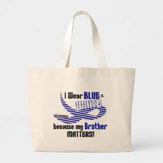 ALS I Wear Blue And White For My Brother 33 Canvas Bag