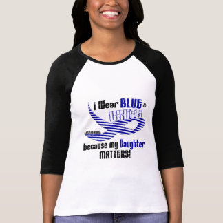 ALS I Wear Blue And White For My Daughter 33 T-Shirt