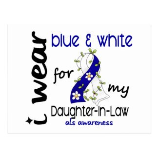 ALS I Wear Blue and White For My Daughter-In-Law Postcard