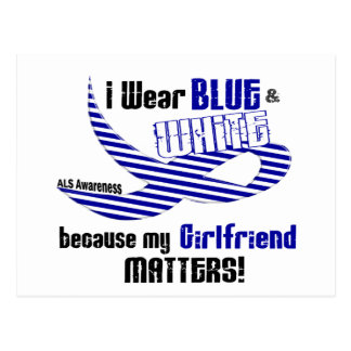 ALS I Wear Blue And White For My Girlfriend 33 Postcard