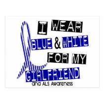 ALS I Wear Blue And White For My Girlfriend 37 Postcard