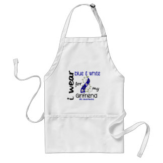 ALS I Wear Blue and White For My Girlfriend 43 Adult Apron