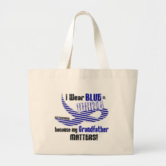 ALS I Wear Blue And White For My Grandfather 33 Large Tote Bag