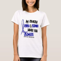 ALS I Wear Blue And White For My Mom 37 T-Shirt