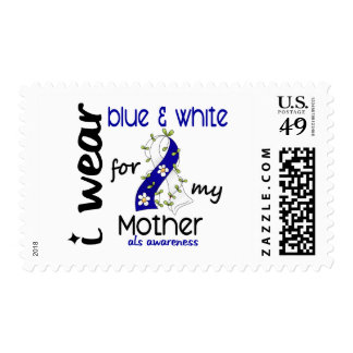 ALS I Wear Blue and White For My Mother 43 Stamps