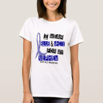 ALS I Wear Blue And White For My Nephew 37 T-Shirt