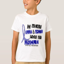 ALS I Wear Blue And White For My Uncle 37 T-Shirt