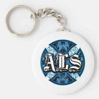 ALS Iron Cross Basic Round Button Keychain