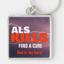 als, cure, awareness, faith, hope, love, men, car, sports, keychain, Keychain with custom graphic design